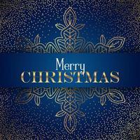 Decoratieve Kerstmissneeuwvlokachtergrond