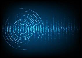 abstracte digitale geluidsgolfachtergrond vector