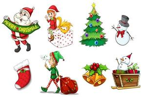Ontwerpen die de geest van Kerstset tonen vector