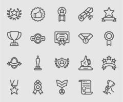 Awards of Success lijn pictogram vector