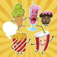 Kinderen Fast Food Set vector