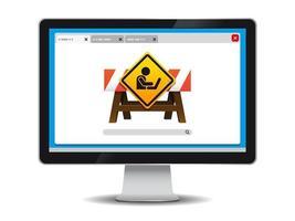 Website in aanbouw illustratie