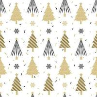 Kerstboom naadloos patroon vector