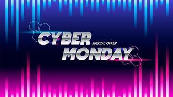 Cyber maandag verkoop teken