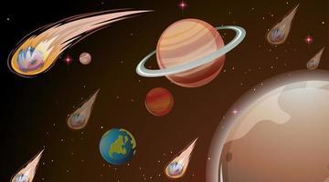 Planeten in ruimtescène vector