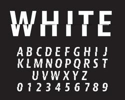 Snijd alfabet lettertypesjabloon. Letters en cijfers snijden ontwerp