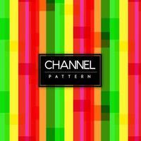 Heldere kanalen kleurrijke vormen naadloze patroon