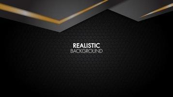Zwart en goud geometrische gelaagde papercut achtergrond