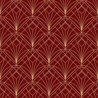 eenvoudig naadloos art deco geometrisch rood kastanjebruin patroon