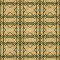 goud en groen naadloos geometrisch patroon