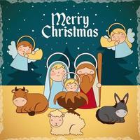 kribbe epiphany kerstmis vector