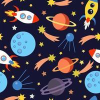 Kinderen ruimte naadloos patroon. vector
