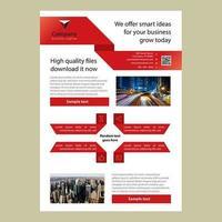 Rood lint brochure zakelijke sjabloon vector