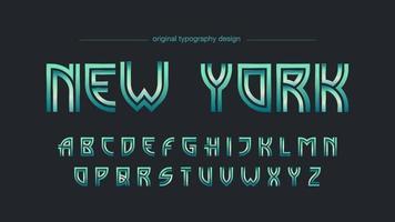 Groen chroom elegant artistiek lettertype