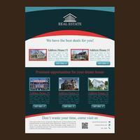 Moderne rode en blauwe afgeronde sectie zakelijke brochure sjabloon vector