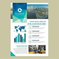 Een pagina zakelijke brochure sjabloon met Low Poly Banner vector