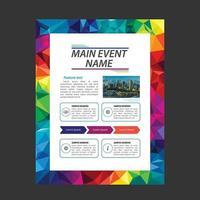 Kleurrijke heldere veelhoek zakelijke brochure sjabloon vector
