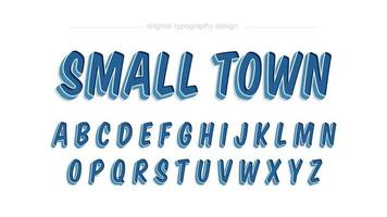 Cartoon Comics blauwe artistieke lettertype
