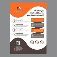 Oranje en bruine Wave Design moderne zakelijke brochure
