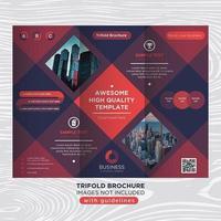 Kleurrijke vierkante zakelijke brochure sjabloon