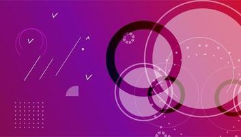 kleurrijke minimale vector kunst geometrische abstracte achtergrond