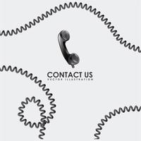 contact met ons op ontwerp vector
