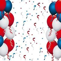 VS gekleurde ballonnen