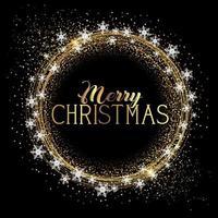 Kerst achtergrond met glitter en sneeuwvlokken