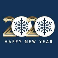 Gelukkig Nieuwjaar minimalistische achtergrond vector