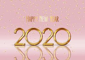 Gelukkig Nieuwjaar 2020-achtergrond vector