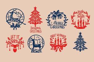 Kerst Sticker Set vector