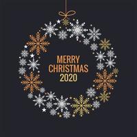 Kerstmis en Nieuwjaar kleurrijke sneeuwvlokken bal achtergrond