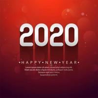 Viering nieuw jaar 2020 verhoogd tekstontwerp