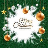 Kerst vakantie frame achtergrond vector