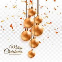 Kerstmis glanzende bal achtergrond