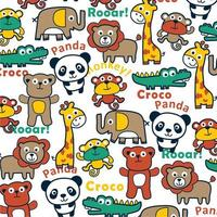 cartoon dieren patroon vector