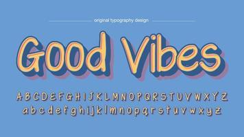Geel vet schaduwen artistieke lettertype