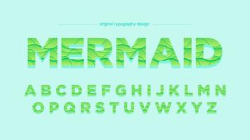 Groene golven abstract typografieontwerp