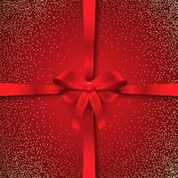 Sparkle Kerst lint achtergrond vector