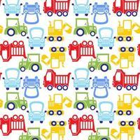grappige kleurrijke cartoon auto patroon vector