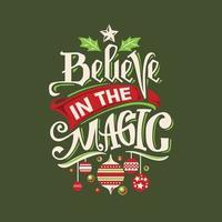 Geloof in het magische citaat vector