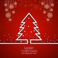 Kerstboom met decoraties Holiday achtergrond