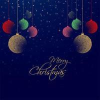 prachtige kerst kleurrijke bal achtergrond