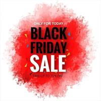 Zwarte vrijdag verkoop met inkt splash achtergrond