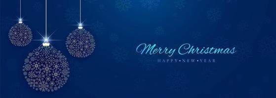 Mooie decoratieve kleurrijke de bannerachtergrond van de Kerstmisbal