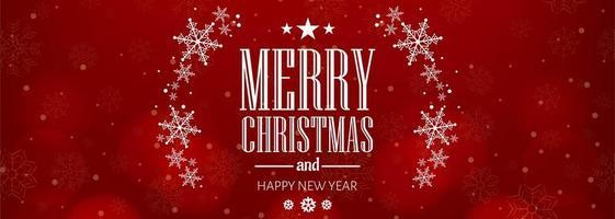 Mooie Kerst sneeuwvlok kaart viering banner achtergrond