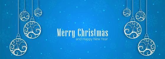 Merry Christmas sneeuwvlokken banner ontwerp achtergrond