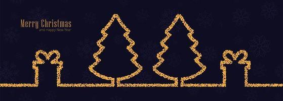 Merry Christmas-achtergrond voor de bannerachtergrond van Kerstmiselementen