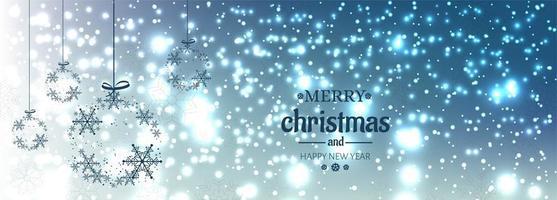 Kerst banner voor Kerst bal voor glanzende glitters achtergrond