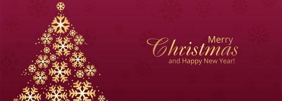 elegante kerstboom kaart viering banner achtergrond